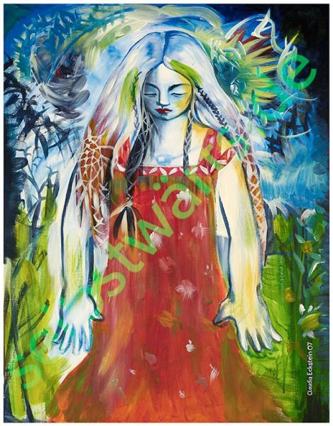 das innere Kind - Poster inneres Mädchen